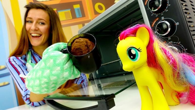 Muffin en taza para My Little Pony. Cocina para niños.