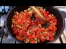 Баклажаны фаршированные мясом и помидорами запеченные с сыром
