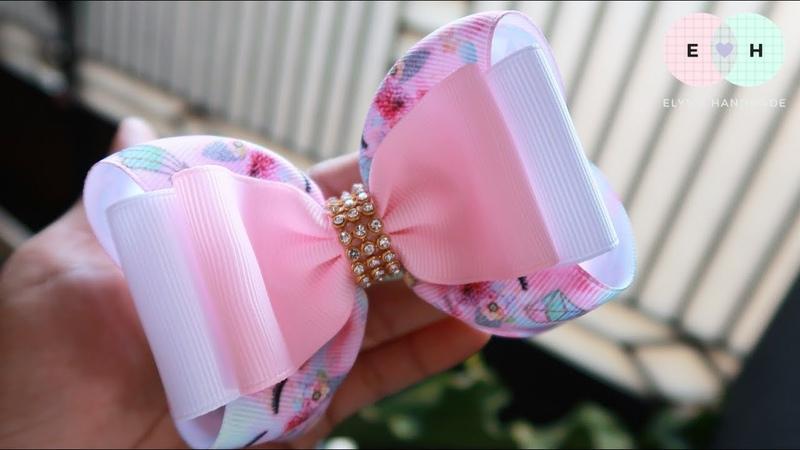 Simple 2 Layers - Laço de Fita 🎀 Ribbon Bow Tutorial 10 🎀 DIY by Elysia Handmade