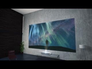 Новый лазерный 4k-проектор lg cinebeam hu85l