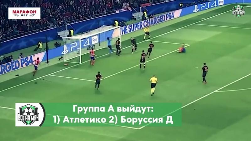 КТО выйдет в плей-офф ЛИГИ ЧЕМПИОНОВ 2018_19