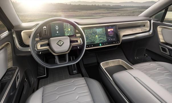 Rivian R1S (2020): 7-Seater Electric SUV К уже рассекреченному суперпикапу, созданному молодой компанией Rivian Automotive, присоединился полноценный семиместный внедорожник, показанный на
