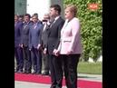 гела Меркель необъяснимо задрожала во время встречи с президентом Украины Владимиром Зеленским.