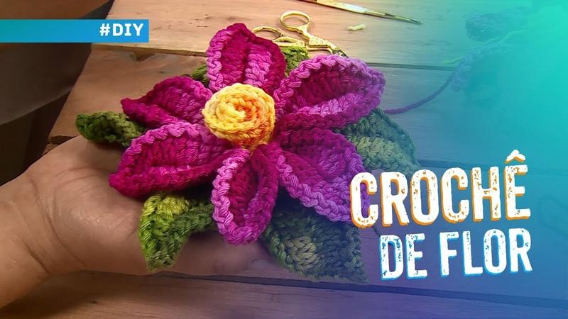 Crochê de Flor por Maria José