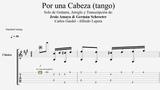 Por una Cabeza - Carlos Gardel - Tablatura por Jes