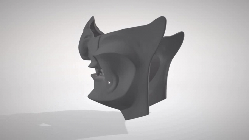 Не удержался и сделал 3Д модельку маски. Так как проект сложный- захотелось посмотреть заранее какие могут быть сложности