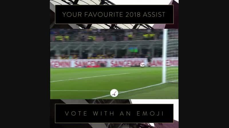 Vota il tuo assist preferito del 2018 con unemoji! - - Perisic per @MauroIcardi @ Spal - @ddambrosio per @MauroIcardi @ Chievo -