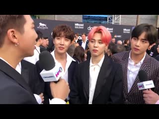 190502 BTS Show Off Friendship Bracelets with Halsey & Dance to Ciara on The 2019 BBMAs Red Carpet @ SiriusXM