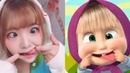 Японки подражают российской Маше из сериала Маша и Медведь - TikTok 4
