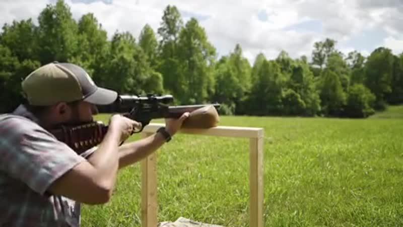 Стрельба из кастомного Henry Color Case Hardened Edition Model H010CC под .45-70 Gov на 348 ярдов