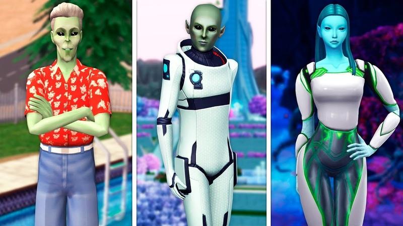 Пришельцы в The Sims | Сравнение 3 частей