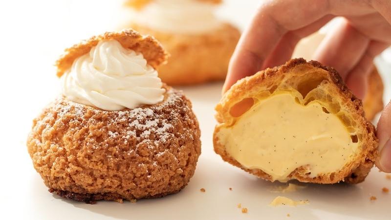 クリームチーズ・クッキーシューの作り方 Cream Cheese Cookie Choux HidaMari Cooking
