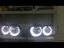 Замена линз и установка ангельских глазок на BMW X5 E53 дорестайл