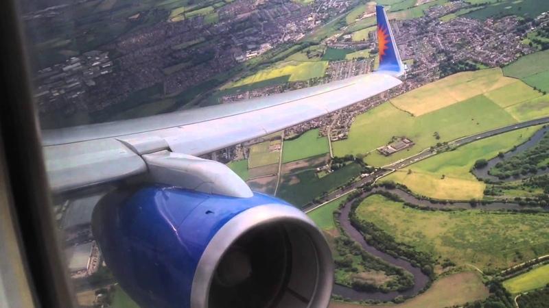 Jet2.com 757-200 Bumpy landing at Leeds Bradford International Airport runway 32