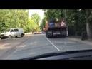 Дорога через полигон. Установка лежачих полицейских. июнь 2019 г