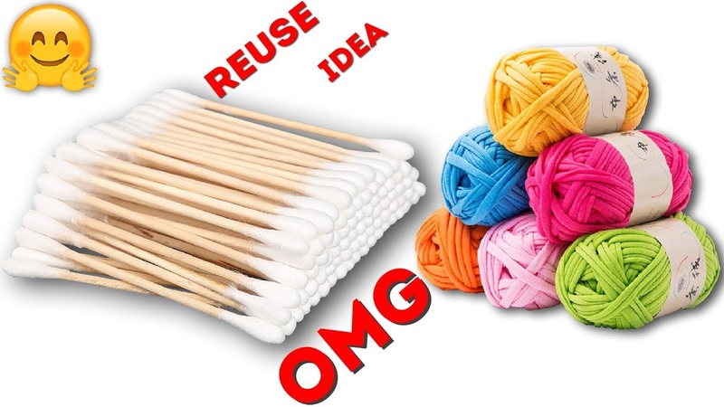Waste material reuse idea | DIY arts and crafts | Best out of waste | recycling cotton buds