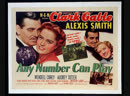 Any Number Can Play (1949) Clark Gable, Alexis Smith, Wendell Corey