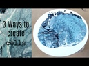 3 Ways to create cells in your resin art