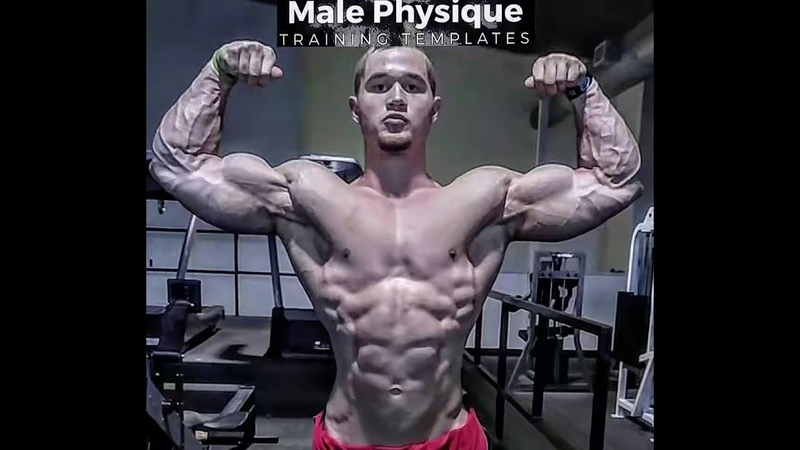 Incredible young Handsome TALL bodybuilder   jared feather   workout and posing  