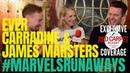 Ever Carradine James Marsters interviewed: MarvelsRunaways cast/crew for Season 2 setvisit Hulu