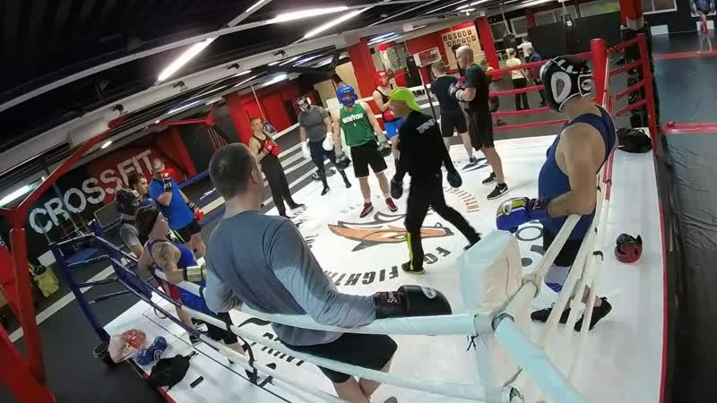 FFS club. Бокс. Фрагмент тренировки с онлайн камеры.