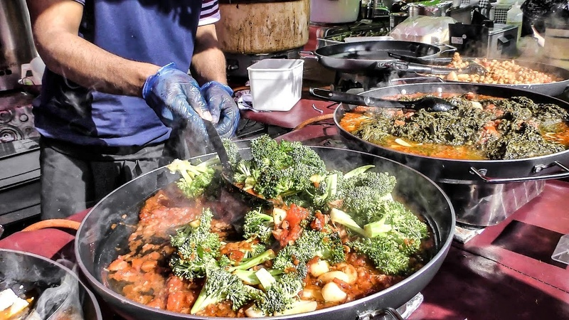 Indian Street Food in London Huge Cooking Seen in Notting Hill