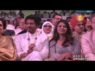 SRK & Gauri at #AkashAmbaniWedding