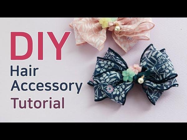 DIY/HairBow Tutorial/How to make a ribbon hairaccessory/(BK707)단델리온집게핀/집게핀만들기