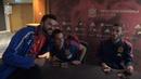 Encuentro de aficionados y jugadores de la Selección española en Cardiff