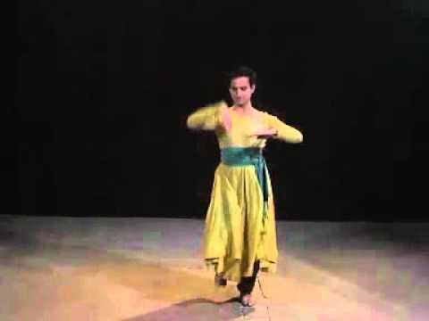 Pakistani kathak dancer umair arif performing on tarana