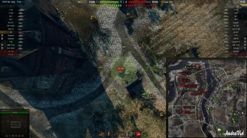 НЕРЕАЛЬНЫЕ ВАНШОТЫ АРТЫ НА ЧТО СПОСОБНА АРТ-САУ В WoT World of Tanks_04_9029_00.mp4