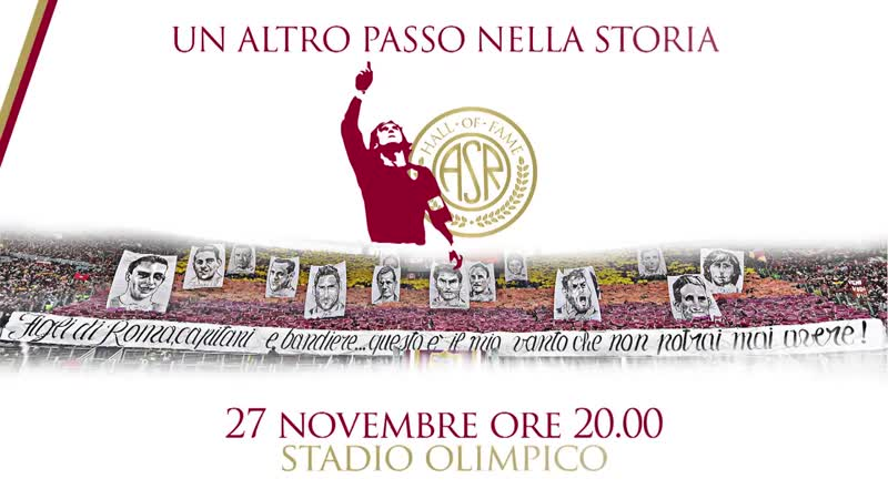 HALL OF FAME: TOTTI TO SALUTE CROWD