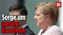 Sorge um Angela Merkel Bei der Nationalhymne fing sie an zu zittern
