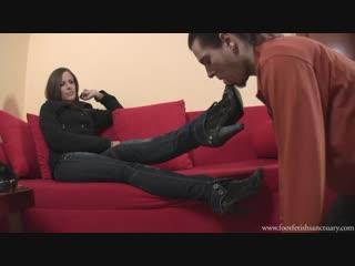Goddess jessica femdom boot fetish бут фетиш foot fetish фут-фетиш slave lick shoe trampling