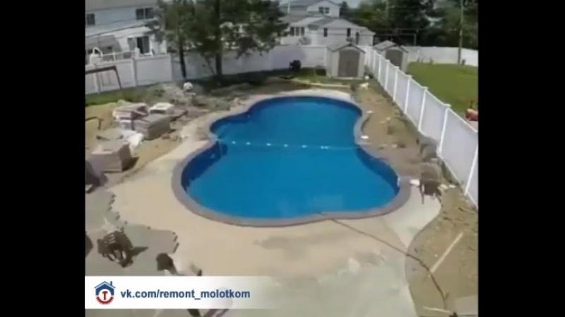 Постройка бассейна от начала до конца 😊✌