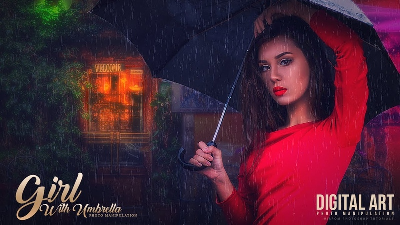 Create a Photo Manipulation With Colorful Light and Rain Effect In Photoshop