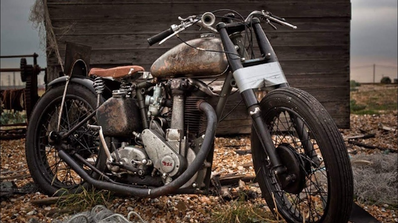 Iconic Old Time Bobber Motorcycles