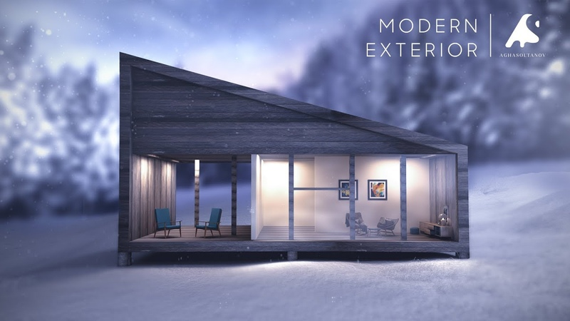 3Ds Max Modern Exterior Design Modeling Vray Render Photoshop Architecture Visualization