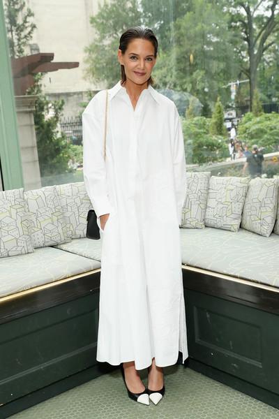 Кэти Холмс в белом