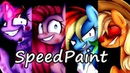[SpeedPaint] Mane 6 Creepy mlp