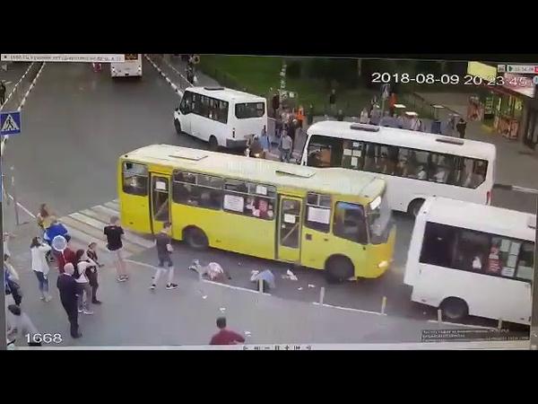 Наезд автобуса на пешеходов Мытищи