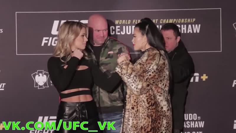 Пейдж ВанЗант и Рэйчел Остович Дуэль Взглядов перед боем на UFC Fight Night on ESPN 1 19 января