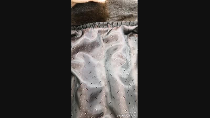 Шуба из меха норки