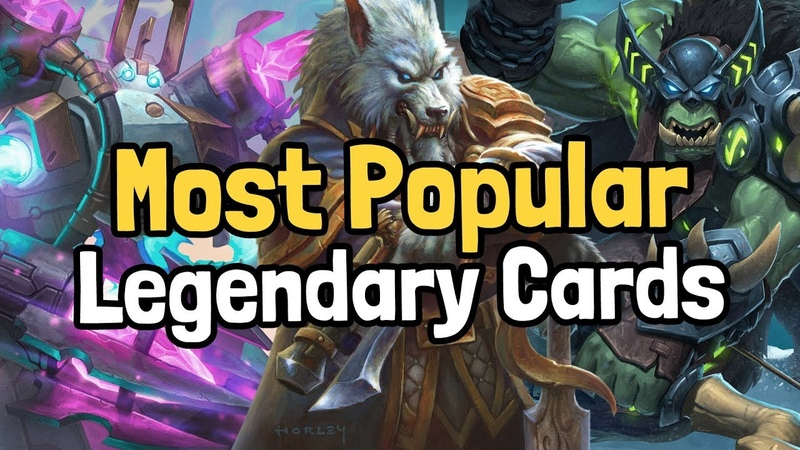 The 10 Most Popular Legendary Cards of the Year - Hearthstone | Sponsored by HSReplay.net