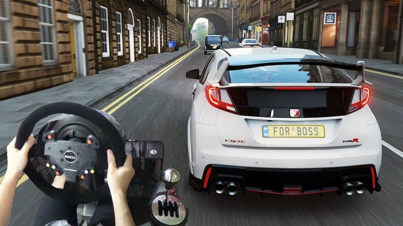 Forza Horizon 4 - Honda Civic Type R 2015 (w/ Steering Wheel) Gameplay