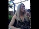 Blonde girl smoking fetish strong cigarette