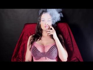 Abbie Cat audible smoking in netz top
