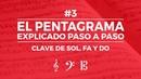 El Pentagrama: Clave de Sol, Fa y Do (Teoría Musical Fácil)