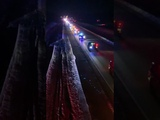 The procession for K9 Officer Haas of the Duluth Police Department