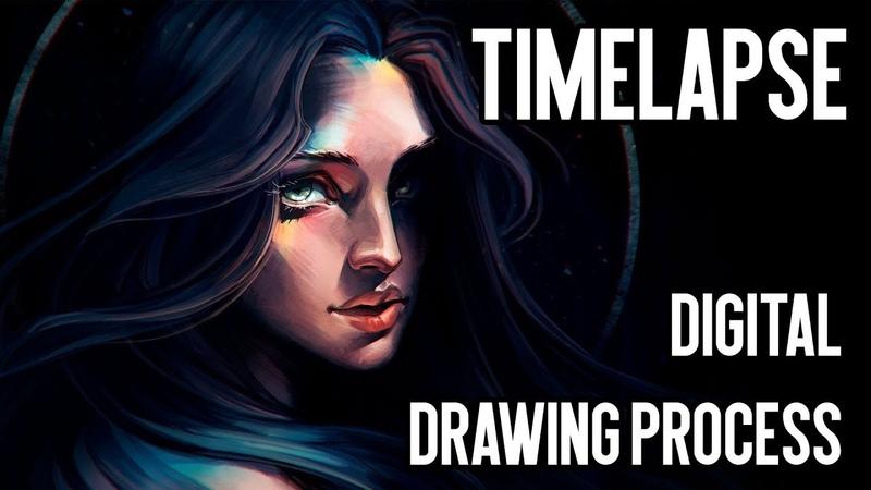 NIMBUS Timelapse: digital drawing process   Joe's ART